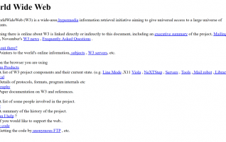 25 years of opening to the world of the World Wide Web: Thus were their first steps in 1991