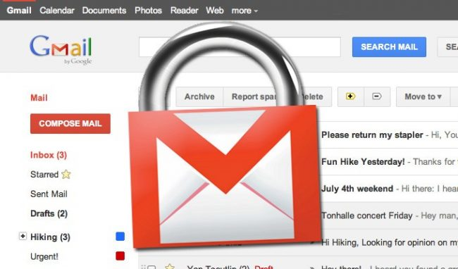 Secure Gmail mail